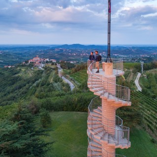 Gonjače viewtower cycling route