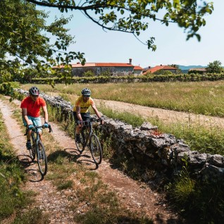 Karst countryside cycling in Slovenia
