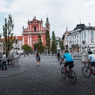 Ljubljana cycling route